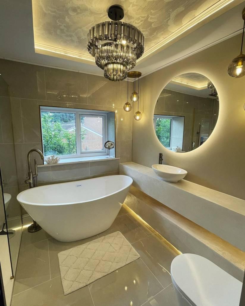 Chloe's finished luxury bathroom suite