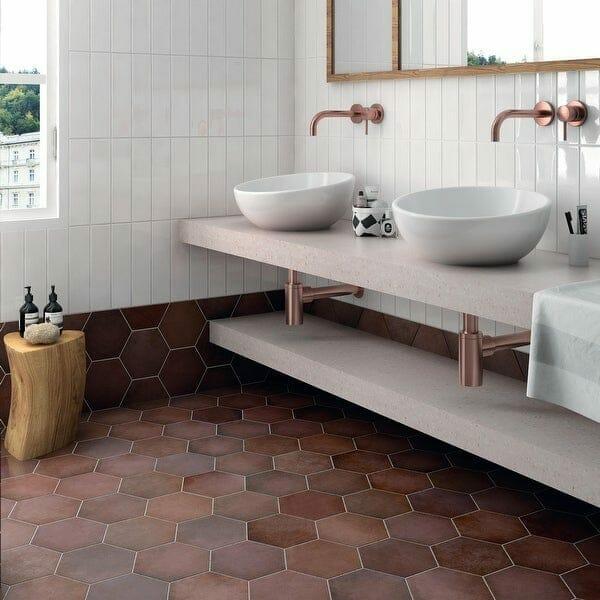 Terracotta tiles by SomerTile @ Overstock