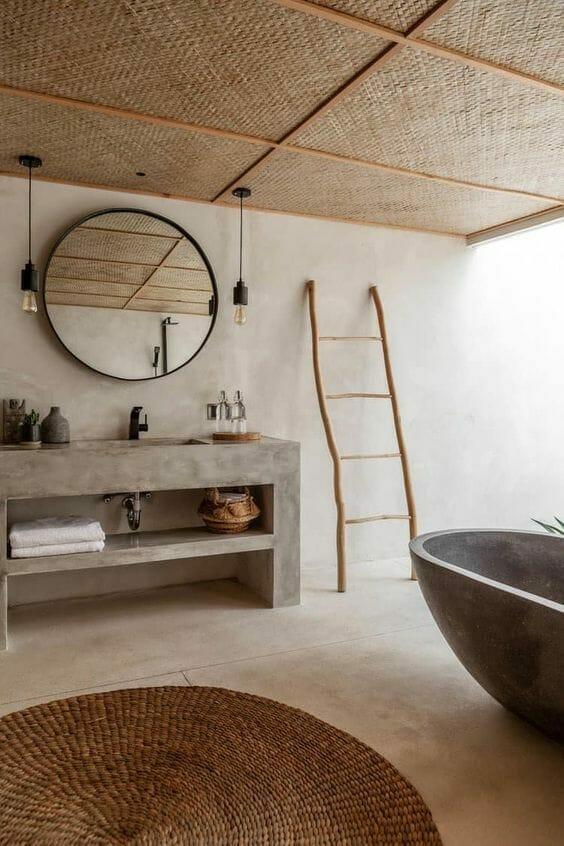 Japandi wasbi-sabi bathroom
