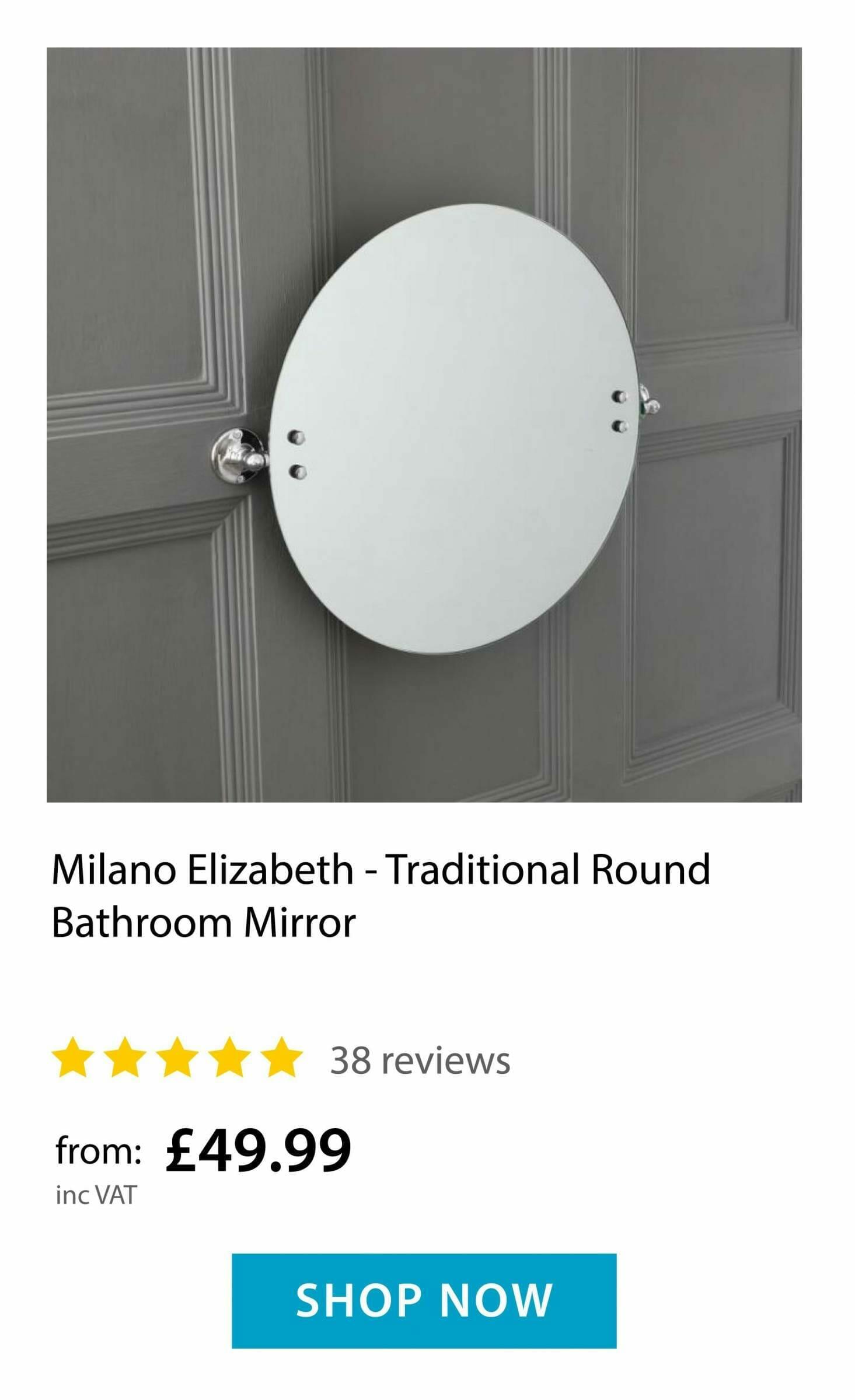 Milano Elizabeth Bathroom Mirror