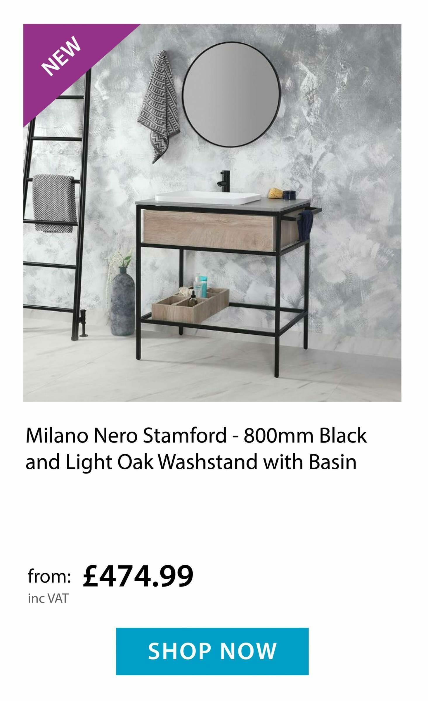 Milano Stamford Washstand and basin